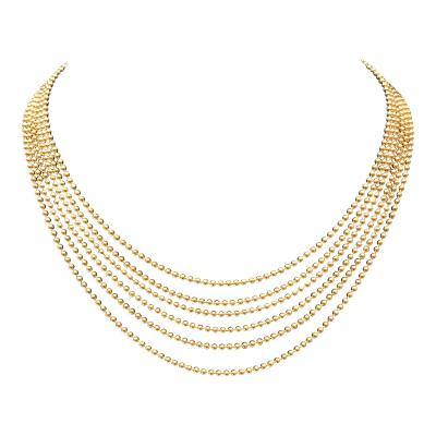 Cartier Cartier Stamped 6 Strand Gold Beaded Necklace
