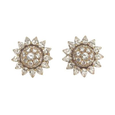Cartier Cartier Sunflowers Diamond Ear Clips