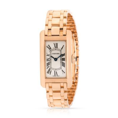 Cartier Cartier Tank Americaine 2503 Womens Watch in 18kt Rose Gold