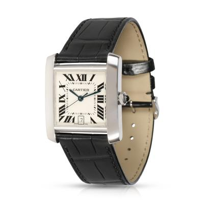 Cartier Cartier Tank Francaise W5001156 Unisex Watch in 18kt White Gold