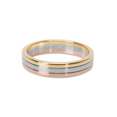 Cartier Cartier Trinity 4 8 mm Wedding Band in 18KT Tri Colored Gold