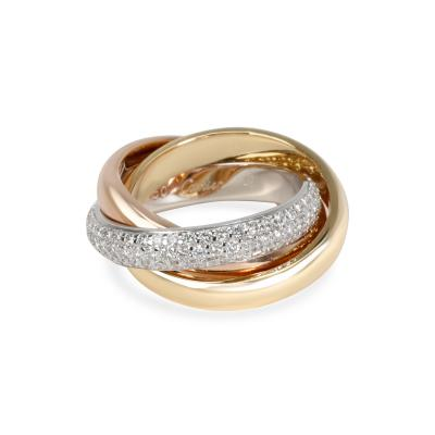 Cartier Cartier Trinity Classic Diamond Ring in 18K Yellow White Rose Gold Size 49