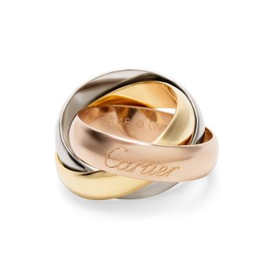 Cartier Cartier Trinity Large Model Ring in 18K Yellow White Rose Gold Size 48