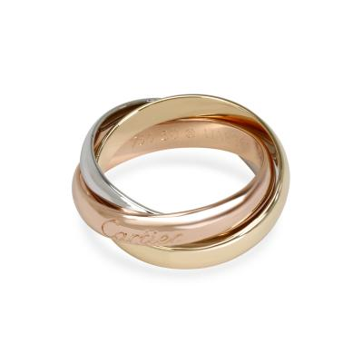 Cartier Cartier Trinity Ring in 18K Yellow White Rose Gold Size 50