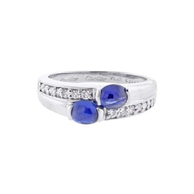Cartier Cartier Twin Cabochon Sapphire and Diamond Ring