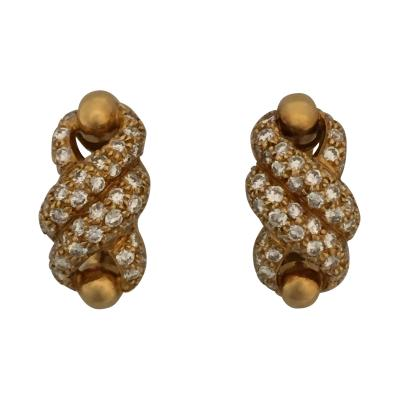 Cartier Cartier Twist Earrings with Diamonds