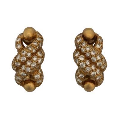 Cartier Cartier Twist Earrings with Diamonds
