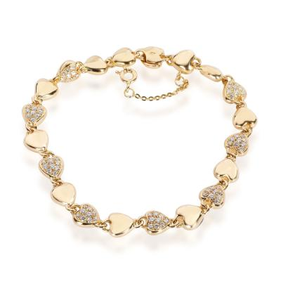 Cartier Cartier Vintage Linked Hearts Diamond Bracelet in 18K Yellow Gold 1 00 CTW