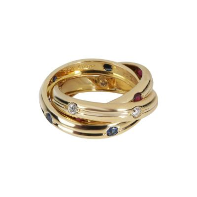 Cartier Cartier Vintage Russian Trinity Diamond Ring in 18K Yellow Gold 0 15 CTW