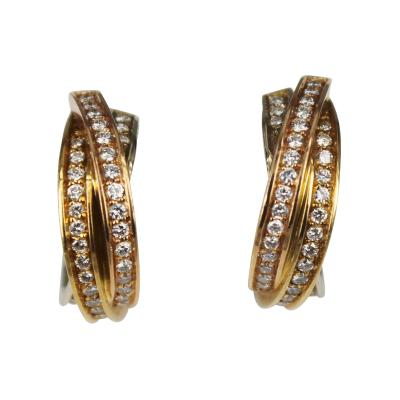 Cartier Cartier trinity diamond hoop earrings