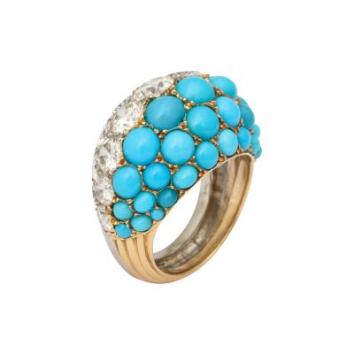 Cartier Diamond and Turquoise Ring by Cartier Paris