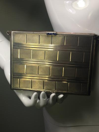 Cartier EXCEPTIONAL CARTIER STYLE ART DECO STERLING SILVER MINAUDIERE HANDBAG