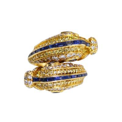 Cartier Fancy Yellow Diamond Diamond and Sapphire Chimera Ring by Cartier Paris