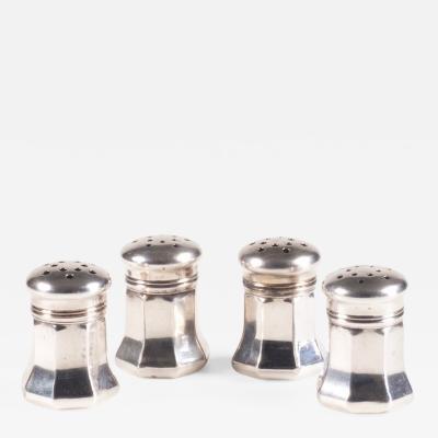 Cartier Four Cartier Silver Cruets