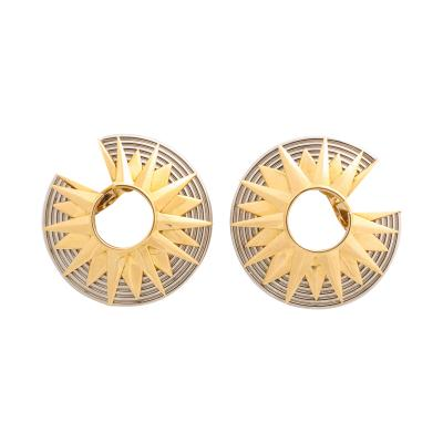 Cartier Gold C Shaped Earrings by Cartier Paris