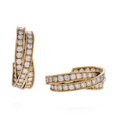 Cartier Gold Earrings with Diamond by Cartier