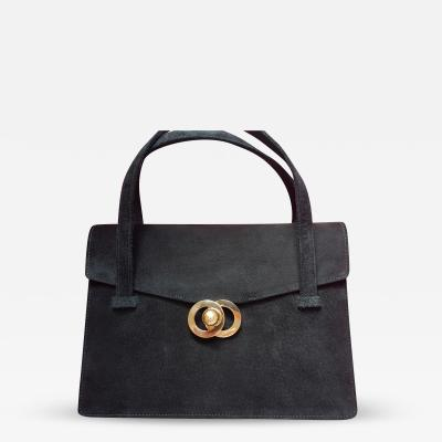 Cartier Gold and black suede handbag Cartier circa 1960