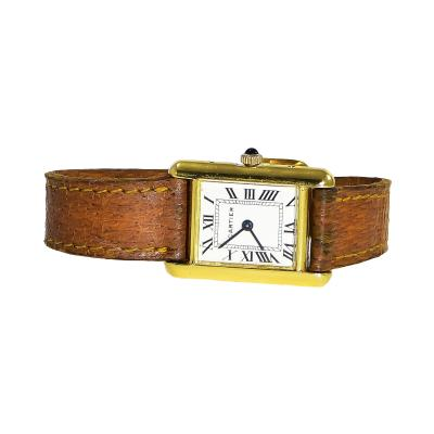 Cartier Iconic 1960s Cartier 18kt Yellow Gold Tank model Wristwatch