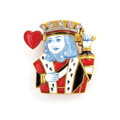 Cartier King of Hearts Brooch by Cartier