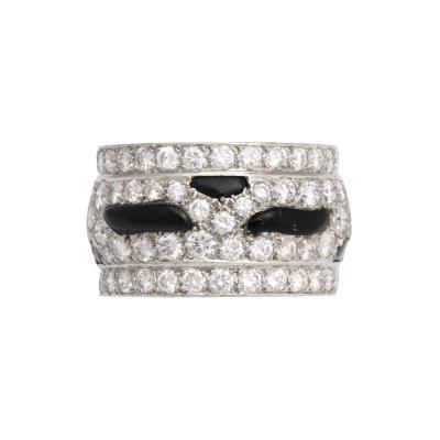 Cartier Oynx Diamond Ring by Cartier
