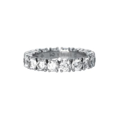 Cartier Platinum and Diamond Eternity Ring by Cartier