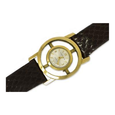 Cartier Rare 1950s Cartier Jaeger Lecoultre 18kt Yellow Gold Helm Wristwatch