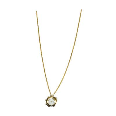 Cartier Rare 1960s Vintage Cartier Sapphire Gold Pearl Set Rope Pendant Watch Necklace