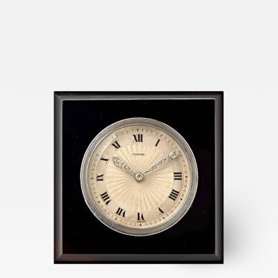 Cartier SQUARE ONYX DESK CLOCK