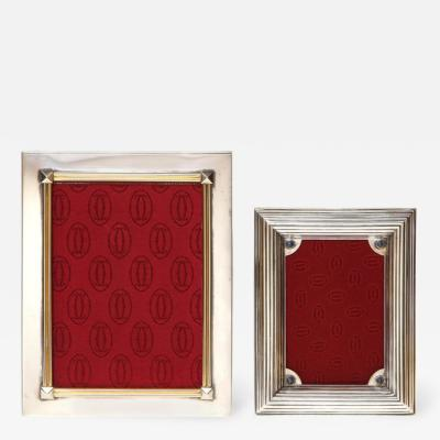 Cartier Two Cartier Silvered Metal Picture Frames