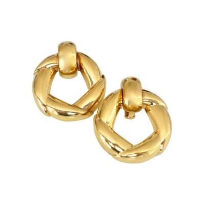 Cartier Vintage Cartier Gold Door Knocker Earrings