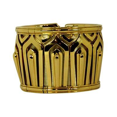 Cartier Wide Cartier Gold Cuff Bangle