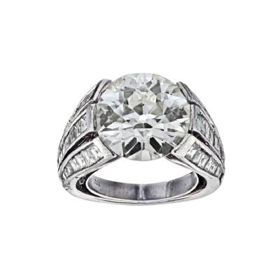 Carvin French CARVIN FRENCH 5 CARAT OLD EUROPEAN CUT DIAMOND M VS2 GIA RING
