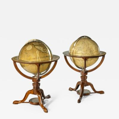 Cary s A pair of 12 inch table globes by G J Cary dated 1800 and 1821