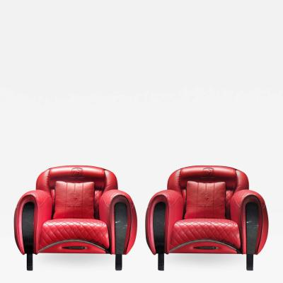 Casa Tonino Lamborghini Tonino Lamborghini Carbon Imola Leather Armchair by Formitalia