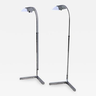 Casella Lighting 1970s Polished Chrome Floor Lamps By Casella