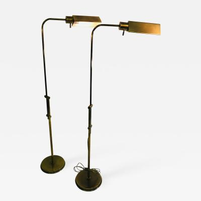Casella Lighting Pair of Mid Century Floor Lamps by Casella