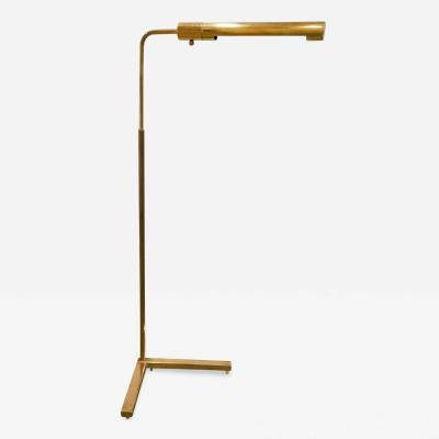 Casella Lighting Solid brass adjustable reading lamp by Casella USA 1970s