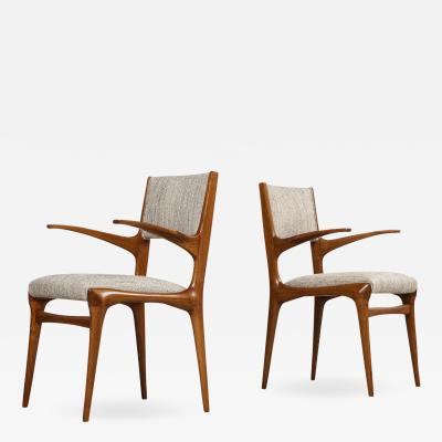 Cassina 8 Arm Chairs by Carlo DeCarli