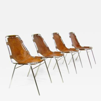 Cassina Four 1960s Charlotte Perriand Les Arcs Chairs By Cassina