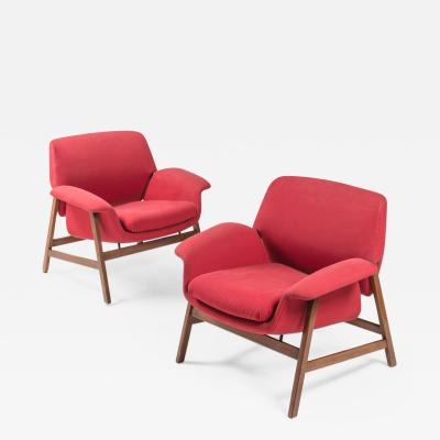 Cassina Pair of Armchairs by Gianfranco Frattini for Cassina
