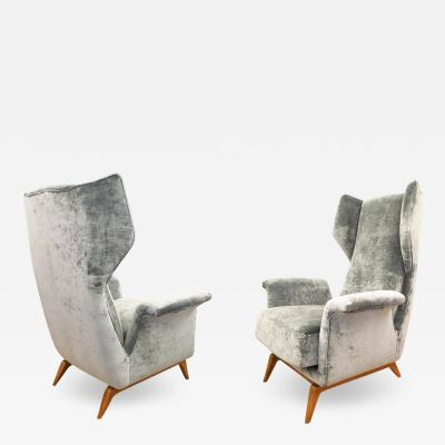 Cassina Pair of Cassina Lounge Chairs Italy 1960s