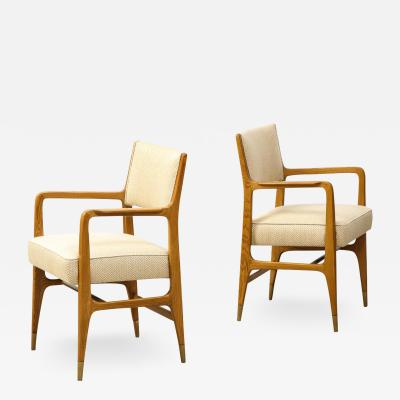 Cassina Rare Pair of Open Armchairs by Gio Ponti