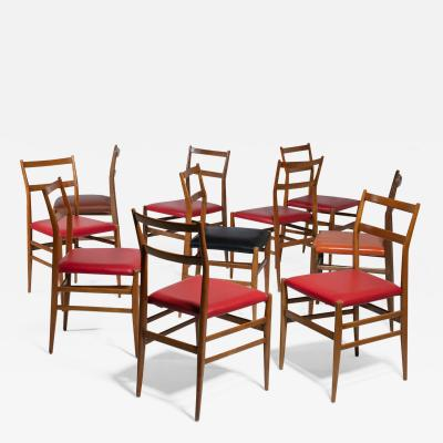 Cassina Set of 10 Leggera Chairs by Gio Ponti for Cassina