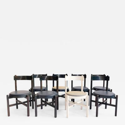 Cassina Set of 8 Cassina Chairs attributed to Gianfranco Frattini