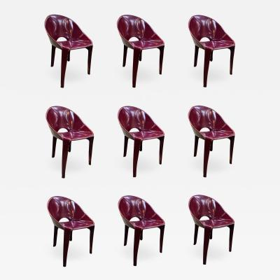 Cassina Set of 9 Dining Chairs for Cassina Studio 1970s Italy