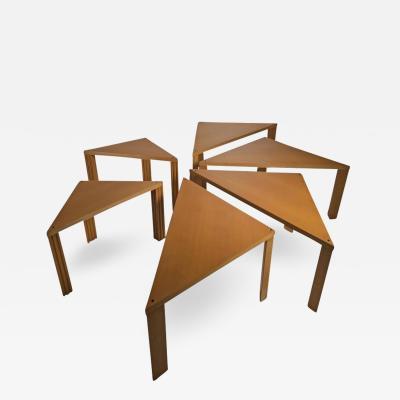 Cassina Set of Six Tangram Tables by Massimo Morozzi for Cassina