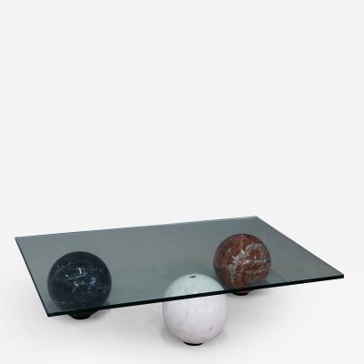Cattelan Italia Coffee Table in marble globe white black and red by Cattelan Italia 1990s