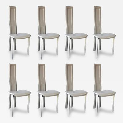 Cattelan Italia Set of Eight Cattelan Italia Carre VI Dining Chairs