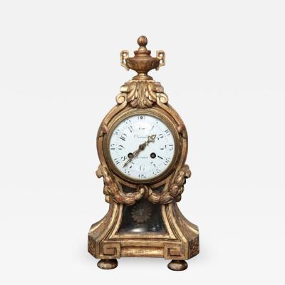 Causard Louis XVI Style Giltwood Clock by Causard Paris