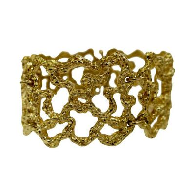 Cellino Cellino Freeform Gold Modernist Bracelet Circa 1970